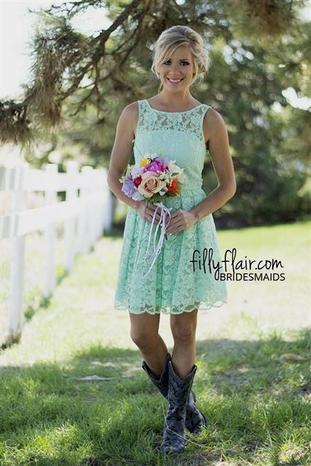 short bridesmaid dresses with lace top