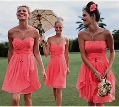 short casual chiffon dresses