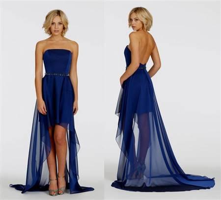 short dark blue bridesmaid dresses