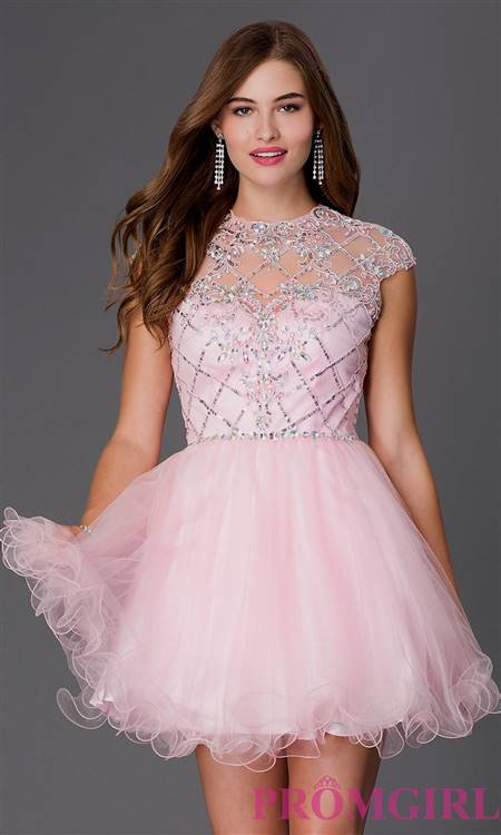 short dresses with sleeves for prom