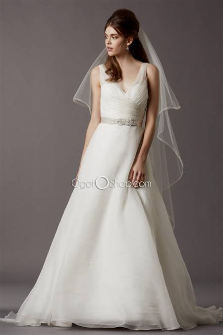 simple a line sweetheart wedding dress