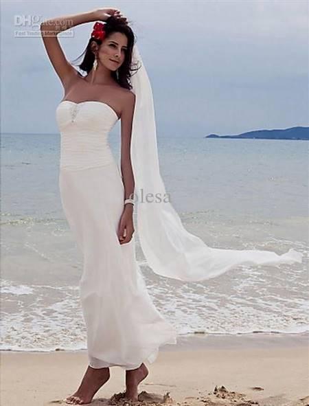 simple beach wedding dress