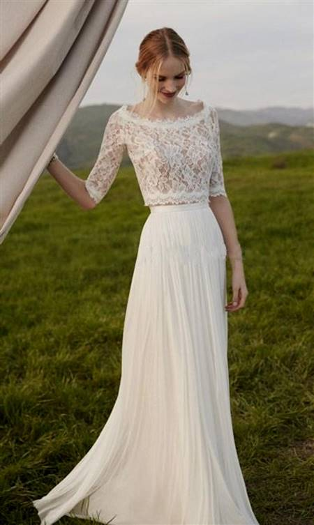 simple beach wedding dress with sleeves