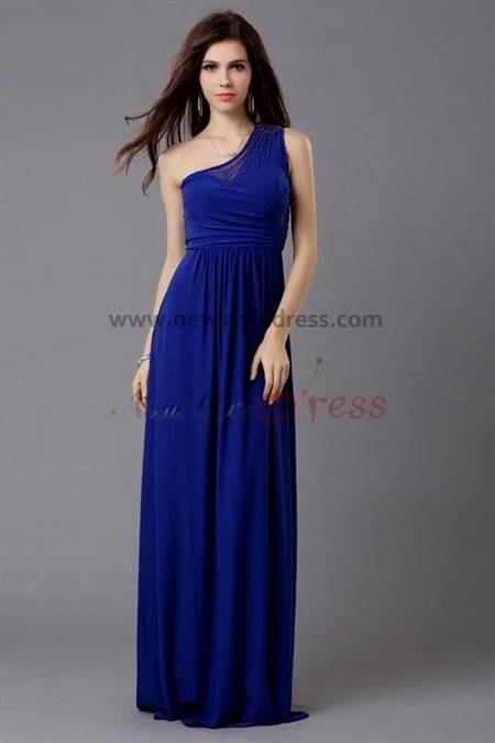 simple blue prom dress