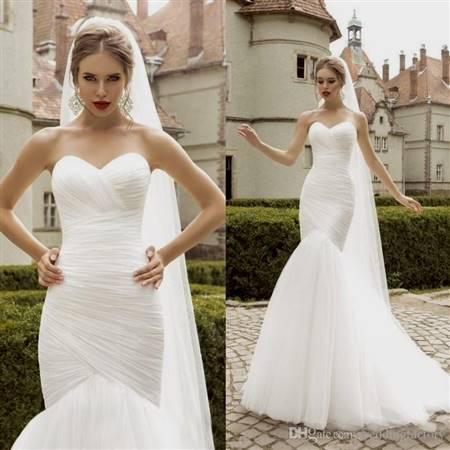 simple elegant mermaid wedding dresses