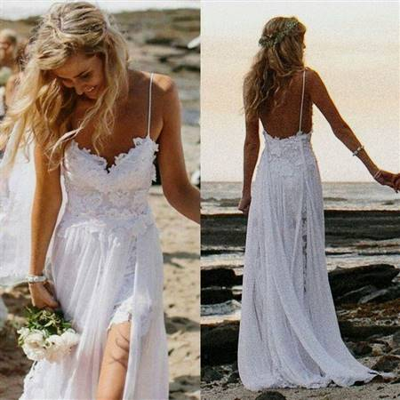 simple white dress for beach wedding
