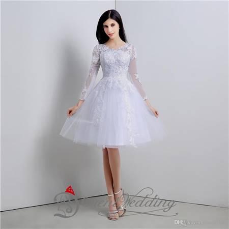 simple white dress for civil wedding