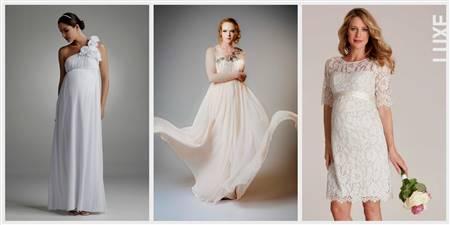simple white dress for civil wedding for pregnant
