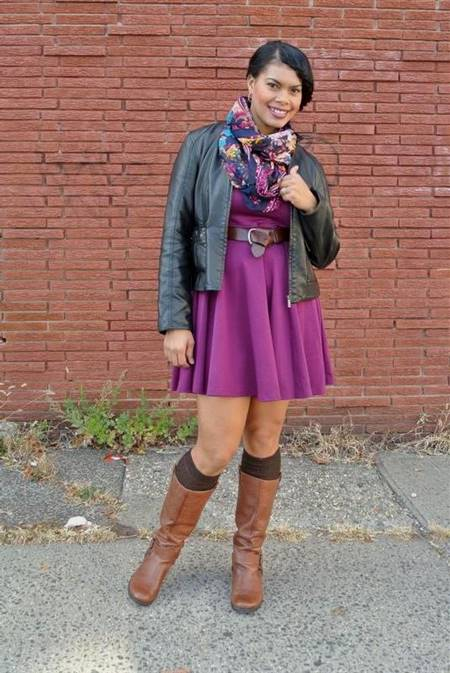 skater dress with boots