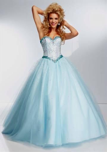sky blue ball gown