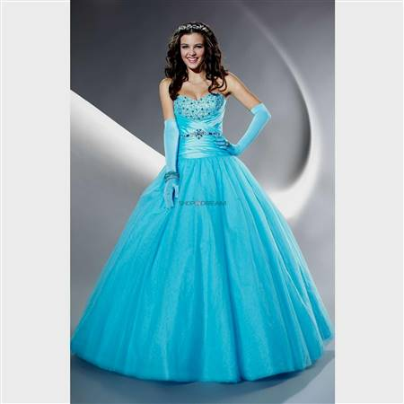 sky blue dresses for prom