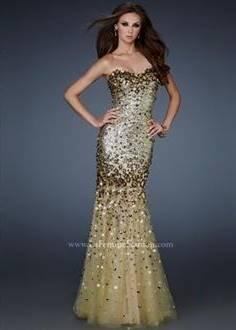 sparkly dark blue prom dresses