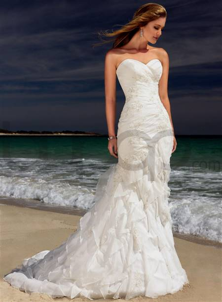 strapless mermaid bridal dresses
