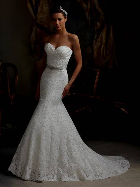 strapless mermaid wedding dresses