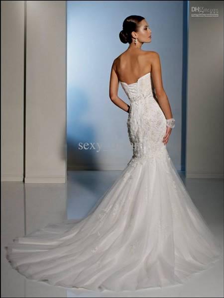 strapless mermaid wedding dresses