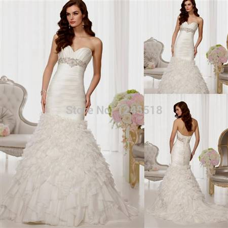 strapless mermaid wedding dresses with corset back  b2b