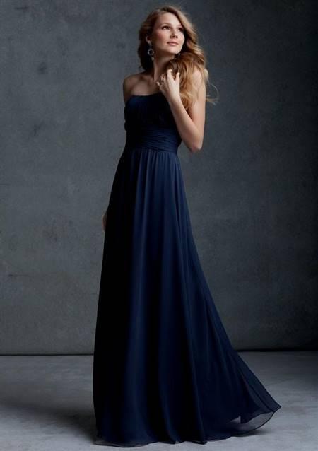 strapless navy blue bridesmaid dresses