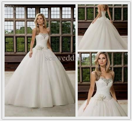 strapless princess wedding dress