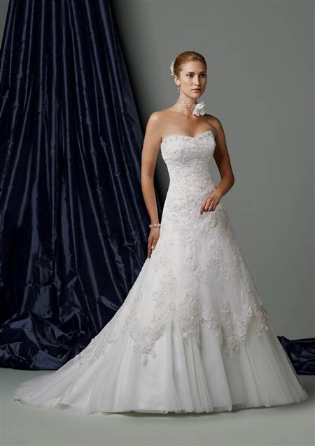 strapless wedding dress designs