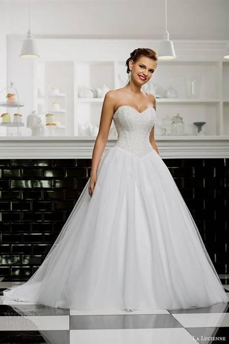 Strapless Wedding Dresses Ball Gown With Diamonds B2b Fashion