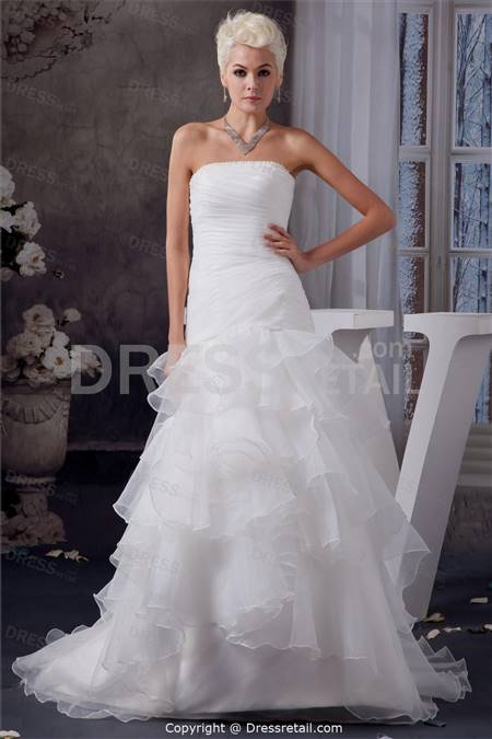 strapless white wedding dresses