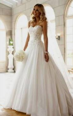 strapless white wedding dresses with diamonds