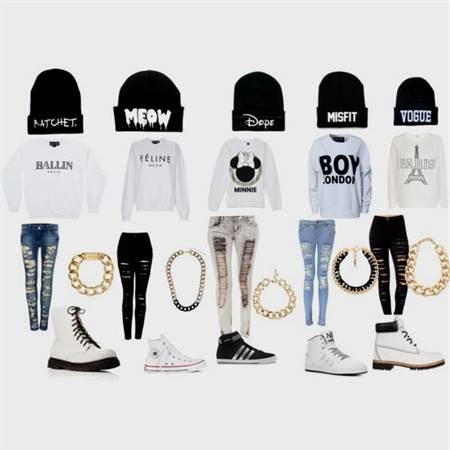 swag clothes for girls with converse