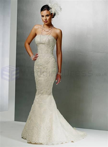 sweetheart strapless mermaid wedding dresses