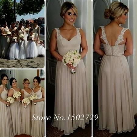 Taupe Lace Bridesmaid Dresses B2b Fashion