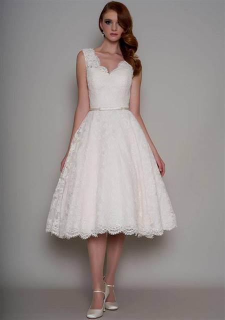 tea length coloured wedding dresses