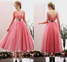 tea length prom dresses with sleeves