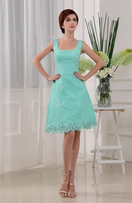 tiffany blue lace bridesmaid dresses