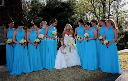 turquoise blue bridesmaid dress