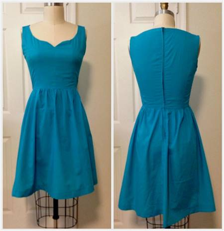 turquoise blue cocktail dress
