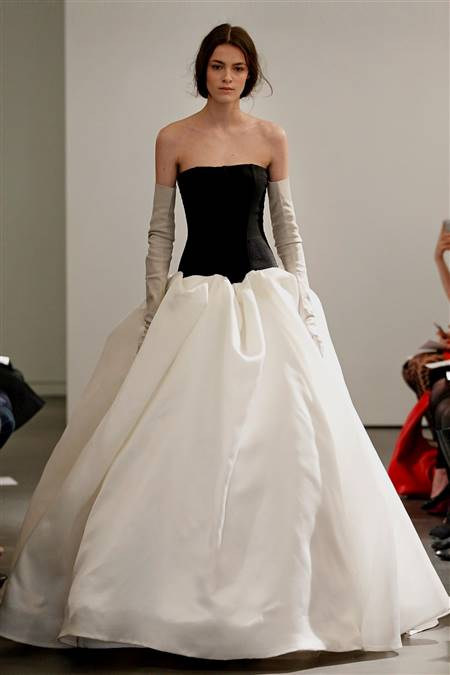 vera wang wedding dresses black and white