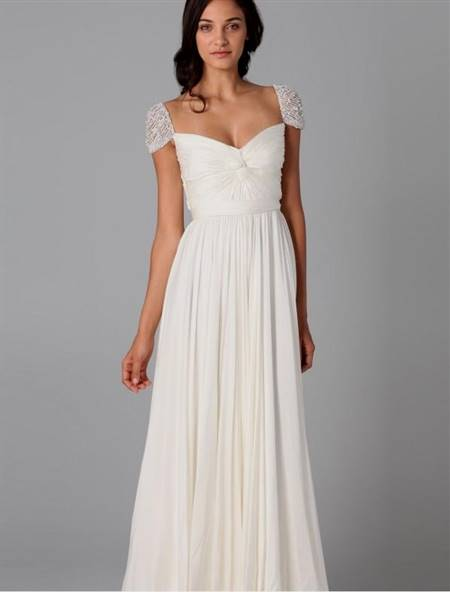very simple wedding dresses with sleeves