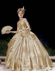 victorian masquerade ball gown
