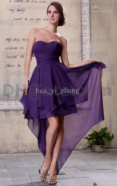 violet cocktail dress