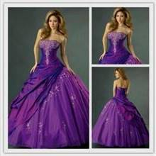 violet gown for debut