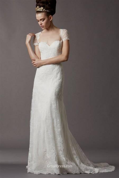 wedding dress with 3/4 sleeves