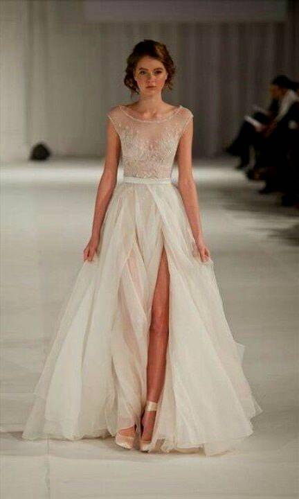 wedding dress with cap sleeves