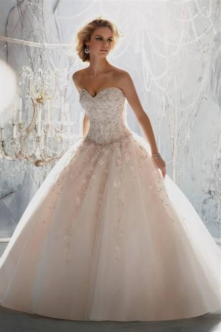 wedding dresses ball gown sweetheart neckline bling