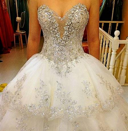 wedding dresses ball gown with bling