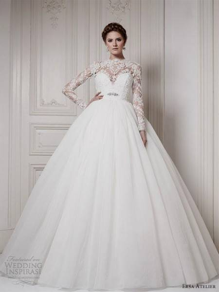 wedding dresses ball gown with sleeves
