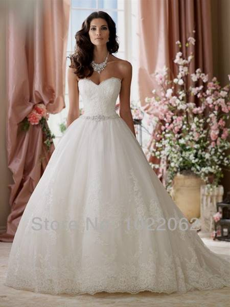 wedding dresses sweetheart neckline ball gown strapless lace