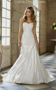 wedding dresses sweetheart neckline fit and flare lace