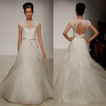 wedding dresses with lace back and front