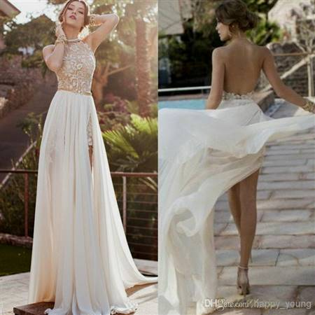 white and gold lace prom dresses