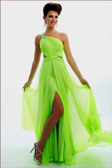 White And Lime Green Wedding Dresses B2b Fashion