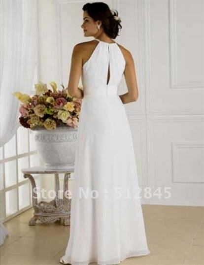 white dress for civil wedding